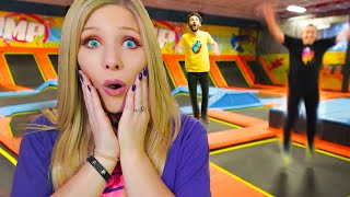 Last to Leave the Trampoline Park! (24 Hour Challenge)