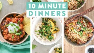 EASY 10 Minute Dinner Recipes | Healthy Dinner Ideas