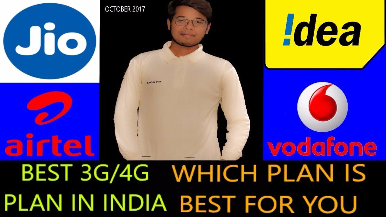 Best 4G data packs |Jio, Airtel, Vodafone, Idea recharge plan | offers for  prepaid, Postpaid users
