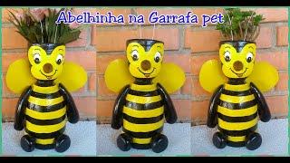 Abelhinha Feita com Garrafa Pet – Diy – Reciclagem – Cachepot