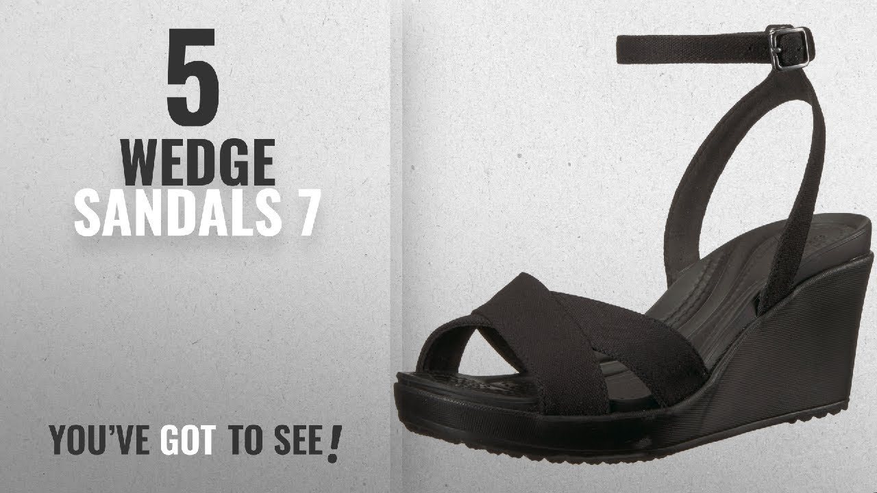 a13af864313a7 Top 5 Wedge Sandals 7  2018   Crocs Women s Leigh II Ankle Strap W ...