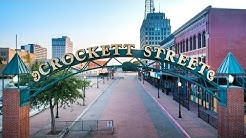 Crockett Street Beaumont, TX with Drone