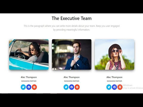 How To Make Responsive Team Section In Html/Css/Bootstrap.