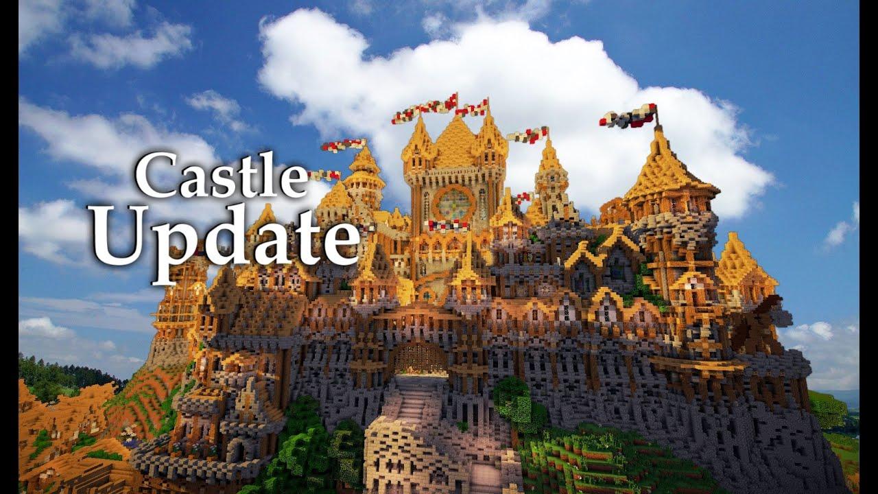 Minecraft Huge Medieval Castle Update 5 Youtube