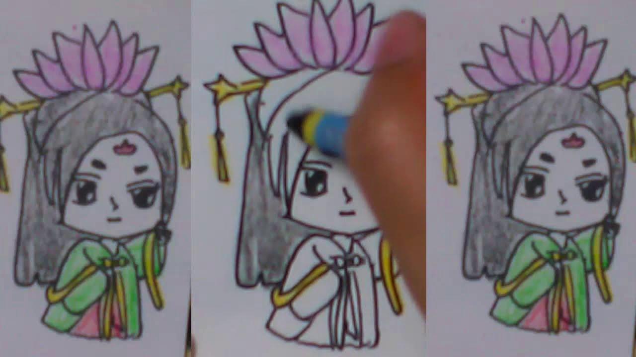 hướng dẫn vẽ anime chibi how to draw an ancient chibi costume