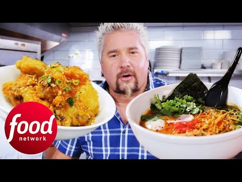 Asian Sticky Wings & Oxtail Ramen Blow Guy Fieri's Mind | Diners, Drive-Ins & Dives