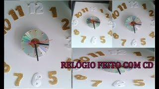 RELÓGIO FEITO COM CD