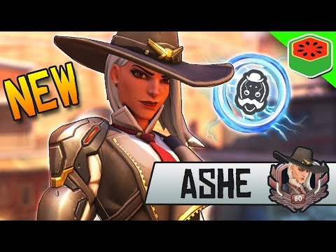 ASHE - NEW BEST DPS HERO Gameplay! | Overwatch