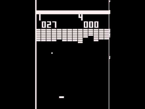 arcade game breakout 1976 atari youtube. Black Bedroom Furniture Sets. Home Design Ideas