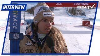 Marta Bassino felice dopo il 3° posto nel Parallelo