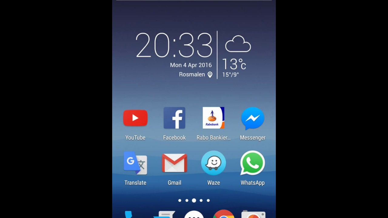 Huawei Honor 7 clock/weather widget on Nova Launcher