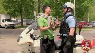 Tourist and Cop Sexy Gay Kiss Prank