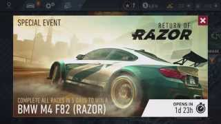 Mobile iOS NFS No Limits - Razor is BACK!  - New Camera!