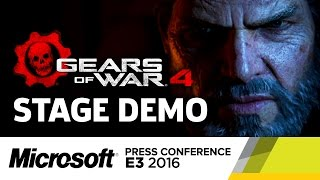 Gears of War 4 Stage Demo - E3 2016 Microsoft Press Conference