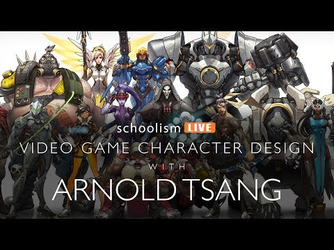 Video game character design with Arnold Tsang