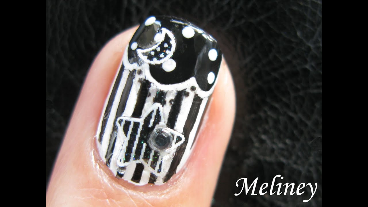 French tip manicure black white nails moonlight cinema nail french tip manicure black white nails moonlight cinema nail art design star moon movie youtube prinsesfo Gallery
