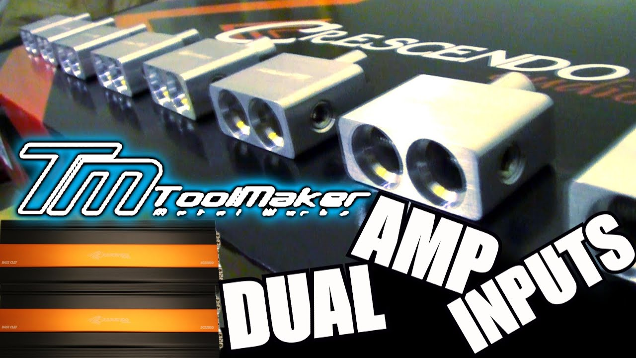 Toolmaker Metal Workz Unboxing Dual 1 0 Amp Input Adapters Custom Wiring Two Amps Car Audio Wire Accessories Youtube