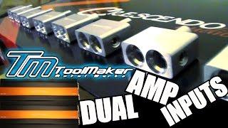 Toolmaker Metal Workz UNBOXING! DUAL 1/0 Amp Input Adapters | Custom Car Audio Wire Accessories