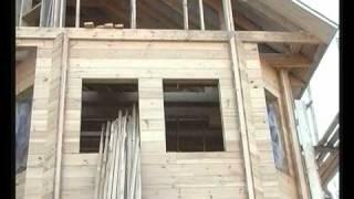 Видео строительство дома из бруса. Часть 2.(Строительство деревянного коттеджа. Обучающий фильм об этапах, технологии и преимуществах технологии:..., 2010-08-08T22:06:57.000Z)