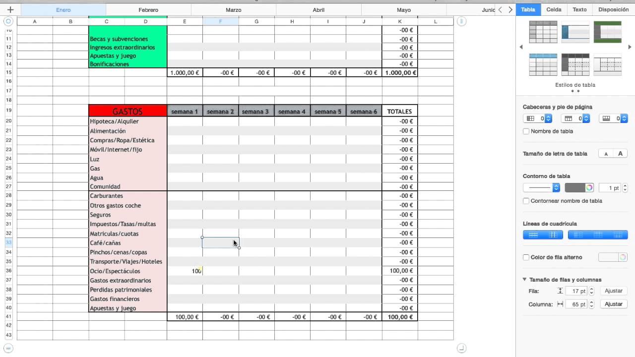 plantilla finanzas dom u00e9sticas excel
