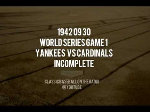 1942 09 30 World Series Game 1 Incomplete Yankees vs Cardinals Radio Broadcast Barber Mel Allen