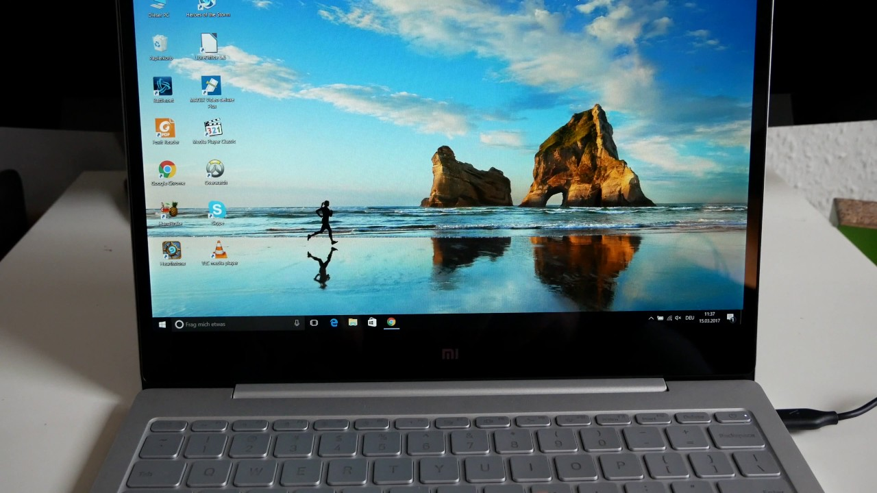 Xiaomi Mi Notebook einrichten, deutsches Windows, erster Eindruck