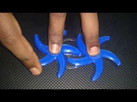 3D printed star fish animation