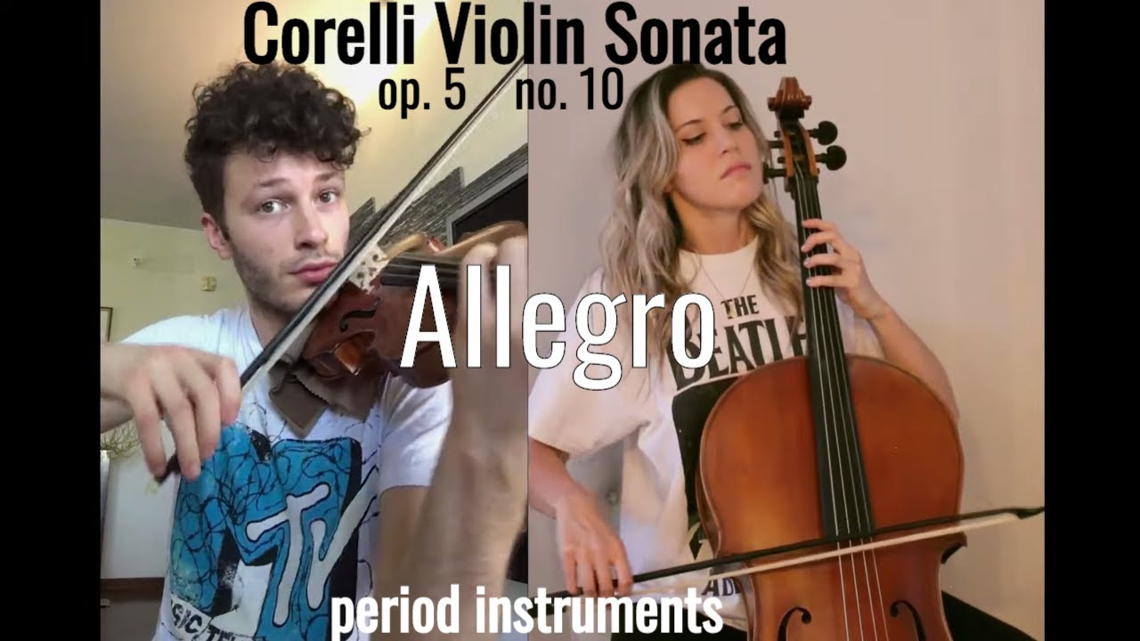Arcangelo Corelli - Violin Sonata Op. 5 no. 10 in F major - Allegro, baroque violin, Simone Pirri