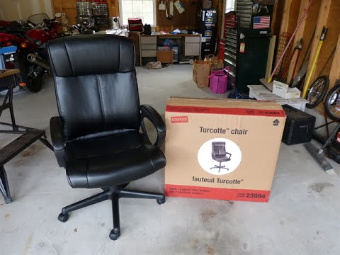 Staples Turcotte Office Chair Assembly Highlights - Model 23094