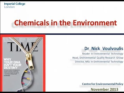 Chemicals in the Environment lecture - DEHUMANISING HUMANITY