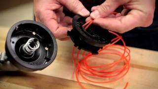 String Trimmer Head | How to install new trimmer line on a traditional bump head thumbnail
