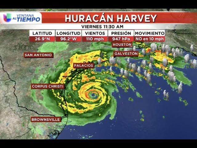 En vivo: Así se está moviendo el huracán Harvey a su llegada a Texas