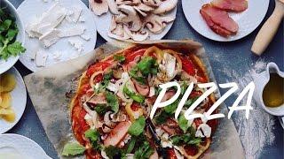 Пицца без дрожжей из цельнозерновой муки