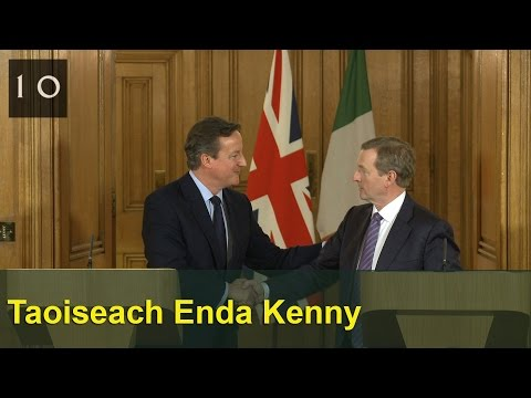 Joint press conference with Taoiseach Enda Kenny