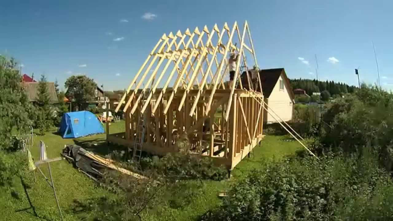 Строительство дома 6 на 6 своими руками