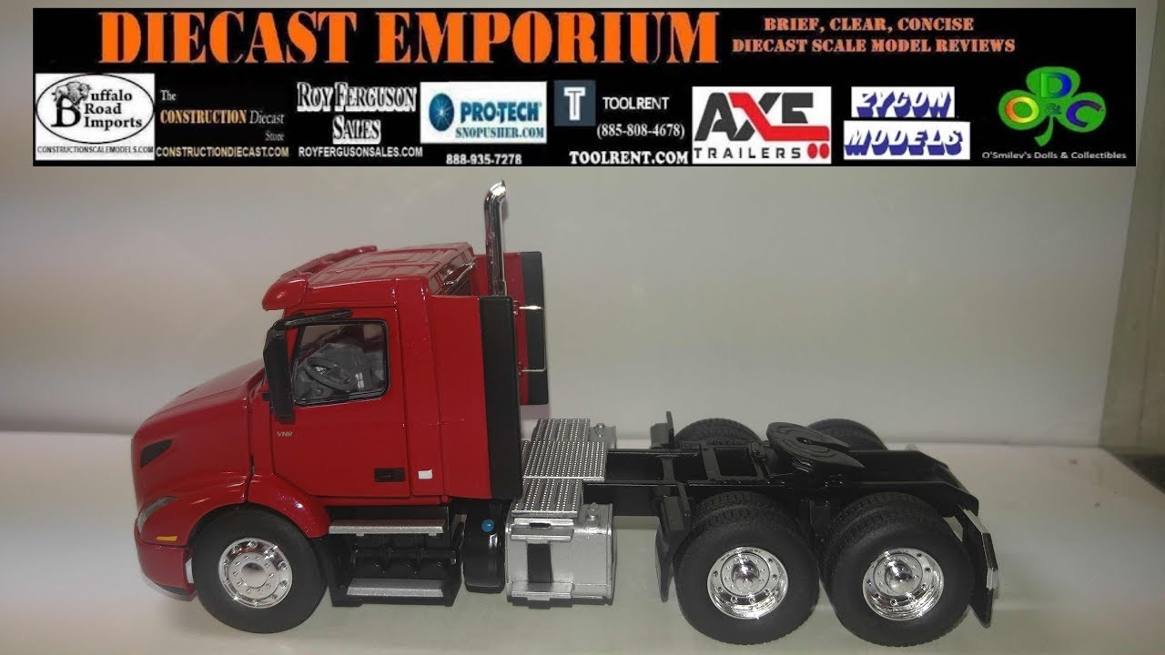 First Gear Volvo VNR 300 Day Cab Tractor in Cherry Bomb Red - YouTube