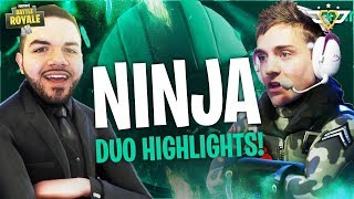 DUOS WITH NINJA! - Highlights! (Fortnite: Battle Royale)
