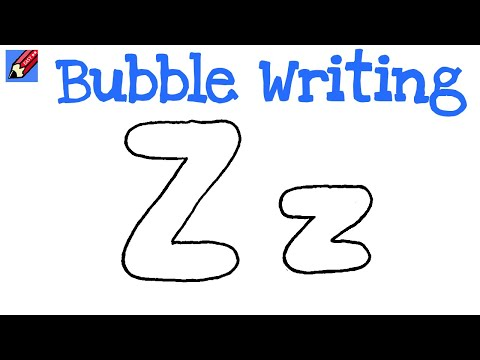 how to draw bubble writing real easy letter z youtube