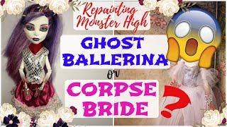 GHOST BALLERINA MONSTER HIGH REPAINT / Spectra Spooky Dead B...