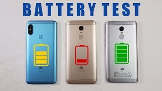 Redmi Note 5 Pro vs Redmi Note 5 vs Redmi Note 4 BATTERY TEST COMPARISON !!