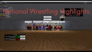 Roblox Wrestling : Season 6 Nationals Highlights