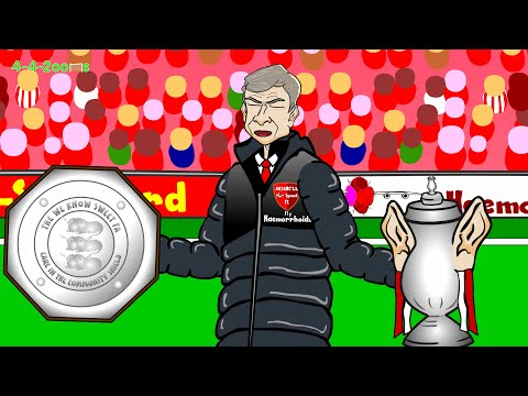 🏆COMMUNITY SHIELD HIGHLIGHTS 2014🏆 Arsenal v Man City by 442oons (football cartoon 3-0)