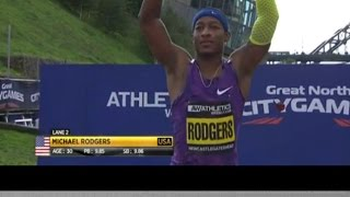 Mike Rodgers Wins Men's 100m at Great North City Games, Newcastle GBR 2015