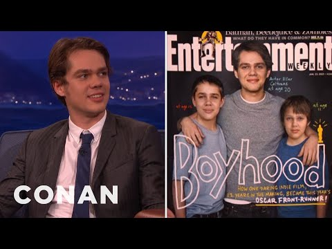 Ellar Coltrane  Part 1 012615   CONAN on TBS