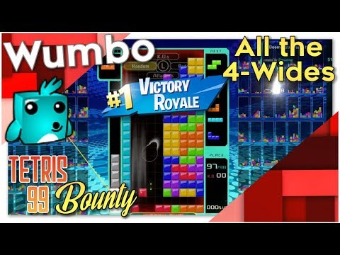"Tetris 99 Bounty - ""All the 4-Wides"""