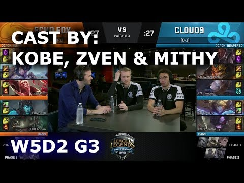 Echo Fox vs C9 - Cast by TSM Zven, Mithy & Kobe (NA LCS Lounge) | Week 5 Day 1 NA LCS Spring 2018