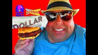 Taco Bell®Beefy Potato-Rito & Sonic Drive-In's® Bourbon BBQ Dunked Chicken Sandwich Reviews!