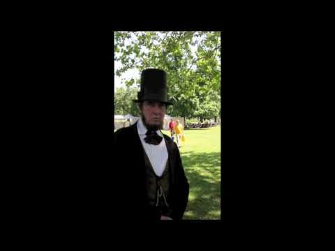 Abraham Lincoln re-inactor at USA Civil War re-inactment Jacksonville Illinois