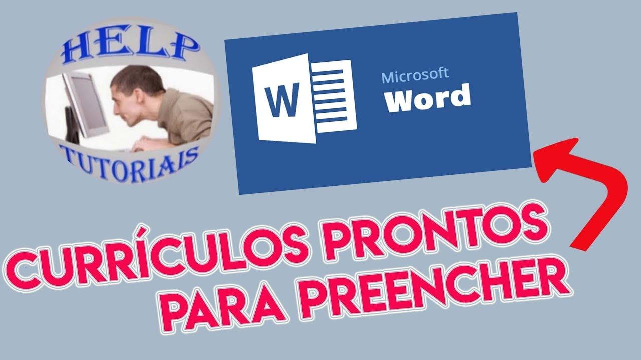 Modelos De Currículos Prontos Word Modelo Currículo Para O Primeiro Emprego