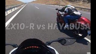 Kawasaki ZX10R vs Suzuki GSXR 1300 Hayabusa